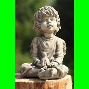 Gartenfigur-Engel-Sura-Steinguss-Vidroflor-Steinfigur-Gartenskulptu-Grabdeko