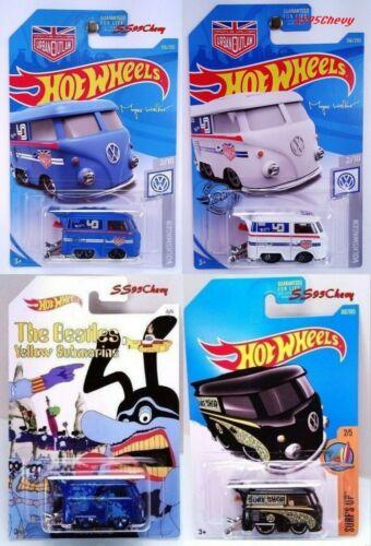 4 Hot Wheels Kool Kombi VW Volkswagen Magnus Walker Urban Outlaw Beatles Black