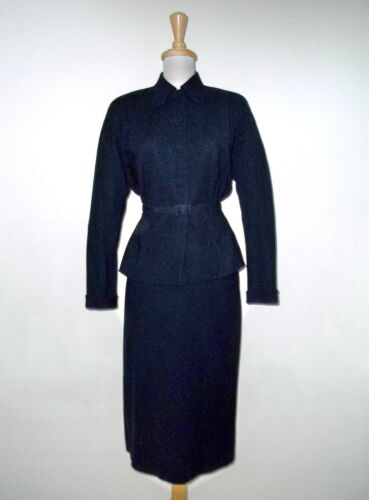 VTG 1940's FRED A. BLOCK Wool Skirt Suit sz S Butt