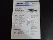 Schaltbild  Service Informationen Telefunken  küchenradio K 305 electronic