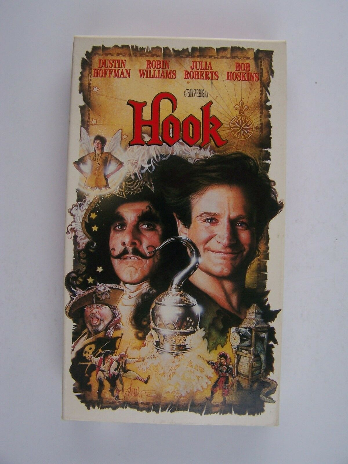 Hook VHS Dustin Hoffman, Robin Williams, Julia Roberts