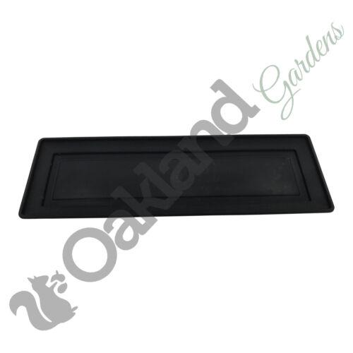 5 x 60cm IRRIGAZIONE vassoio piattino base nera Impianto Pot Fioriera davanzale della finestra