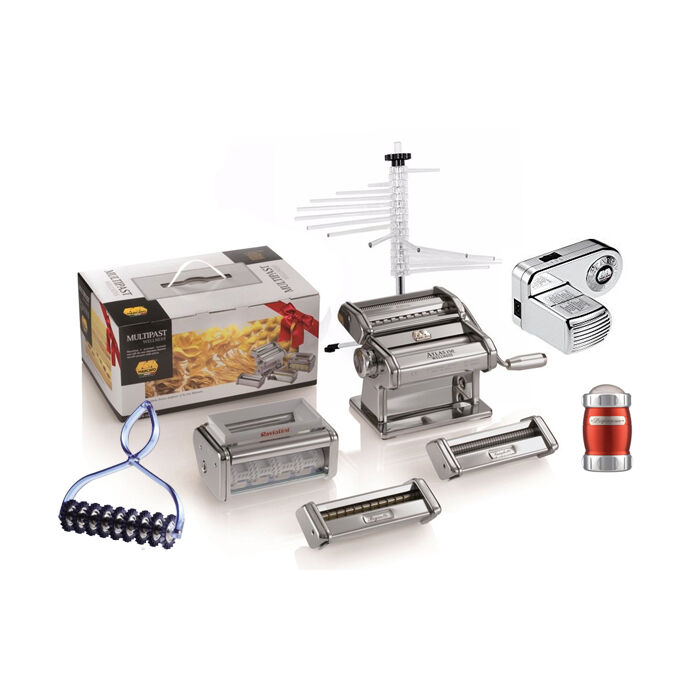 Marcato Multipast All Inclusive Atlas 150 Set Pate Trancheuse Pasta Maker + moteur