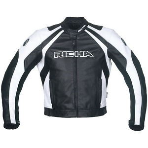235a3137c Details about Richa Leather motorcycle/motorbike jacket - Richa Sniper  White leather jacket