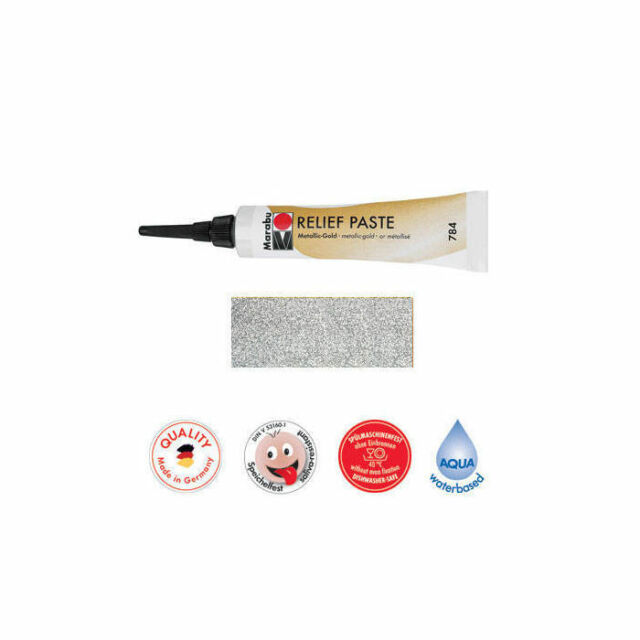 Marabu Relief-Paste Glitter-Silber 20 Ml