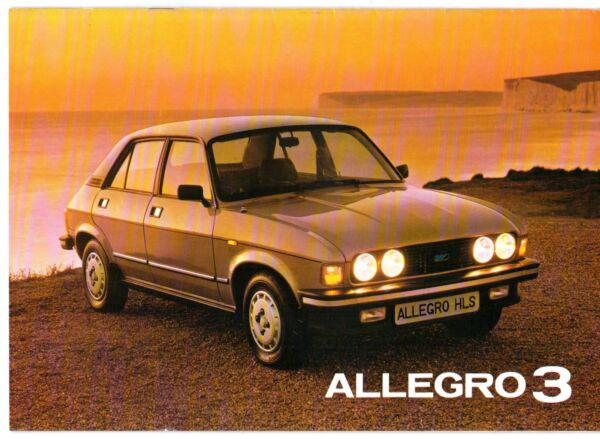 Originale Austin Allegro Serie 3 1981-82 Uk Opuscolo Vendite Sul Mercato L Hl Hls Estate Le Merci Di Ogni Descrizione Sono Disponibili