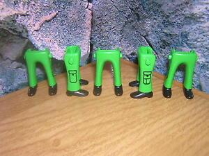 ( A 13 / 2 ) 5 x Beine grün schwarze Schuhe Nordstaatler Garde Soldaten ACW