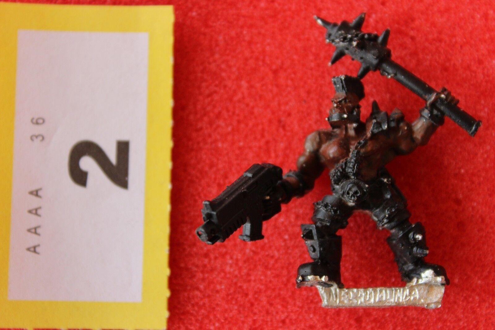 Games Workshop Necromunda Goliath Leader Heavy Fanatic Metal Figure 1999 WH40K A