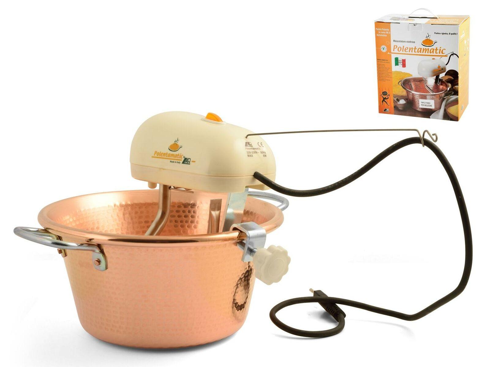 LAR Paiolo Elettrico Rame Fondo Induzione 26 cm Plastica e Acciaio Inox
