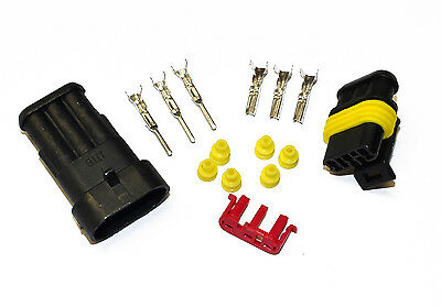 Superseal AMP/Tyco Waterproof Electrical Terminal Connectors 1 2 3 4 5 6 Way Pin