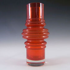 Riihimaki/Riihimaen Red Glass 'Tulppaani' Vase #1516 #1