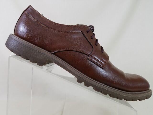 c932e18399 Perry Ellis Portfolio Brown Lace Up Men s Size 9.5 Dress Shoes Career  Loafers
