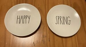 rae dunn HAPPY SPRING 6in plates