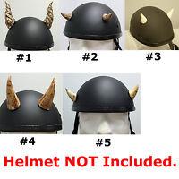 Motorcycle Helmet Screw On Horns Bones Biker Bike Snowboard Ski Helmet