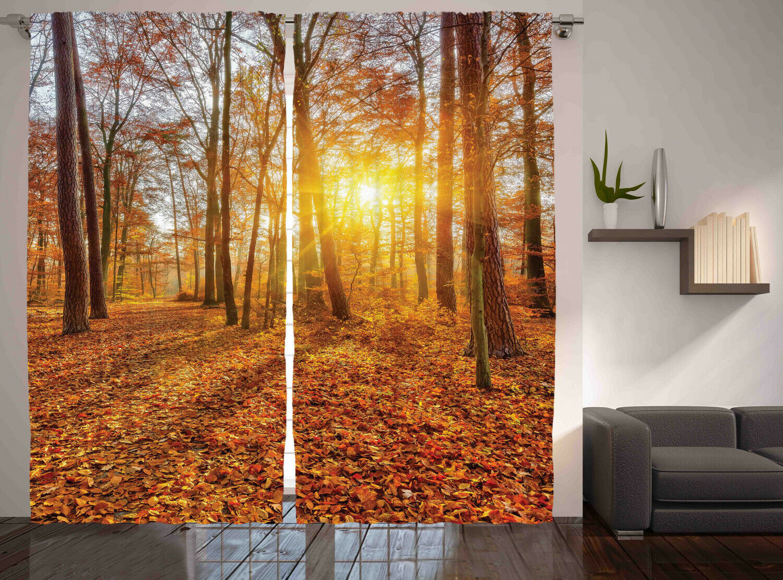 Woods Curtains 2 Panel Set Decoration 5 Dimensiones Window Drapes
