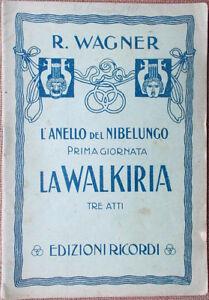 numerosi in varietà online gamma completa di articoli Dettagli su 1930s libretto teatro L'Anello del Nibelungo LA  WALKIRIA-R.Wagner-G.Ricordi