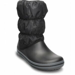 Crocs Winter Puff   Snow Black   Charcoal (U1) 14614-070 Womens ... bfe81d40728