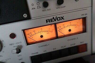 PR99 in Kaltweiß 12000k cool white VU-Meter LED-Beleuchtungskit für Revox B77