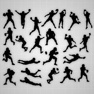 Image is loading Football-wall-decals-Football-boy-silhouette-wall-stickers-  sc 1 st  eBay & Football wall decals Football boy silhouette wall stickers ...