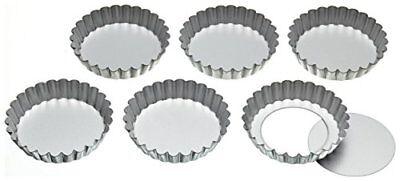 Compiacente Kitchencraft Scanalata In Metallo Zoccoletta Barattoli Con Basi Sciolti, 10 Cm Set Di 6- Forte Imballaggio