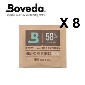 Neuf-Boveda-8-Gram-58-Humidipack-2-Voie-Humidite-Controle-8-X-8g