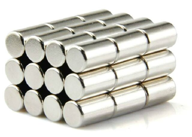 25 pcs N50 Super Strong Disc Cylinder 6mm x 10mm Rare Earth Neodymium Magnets