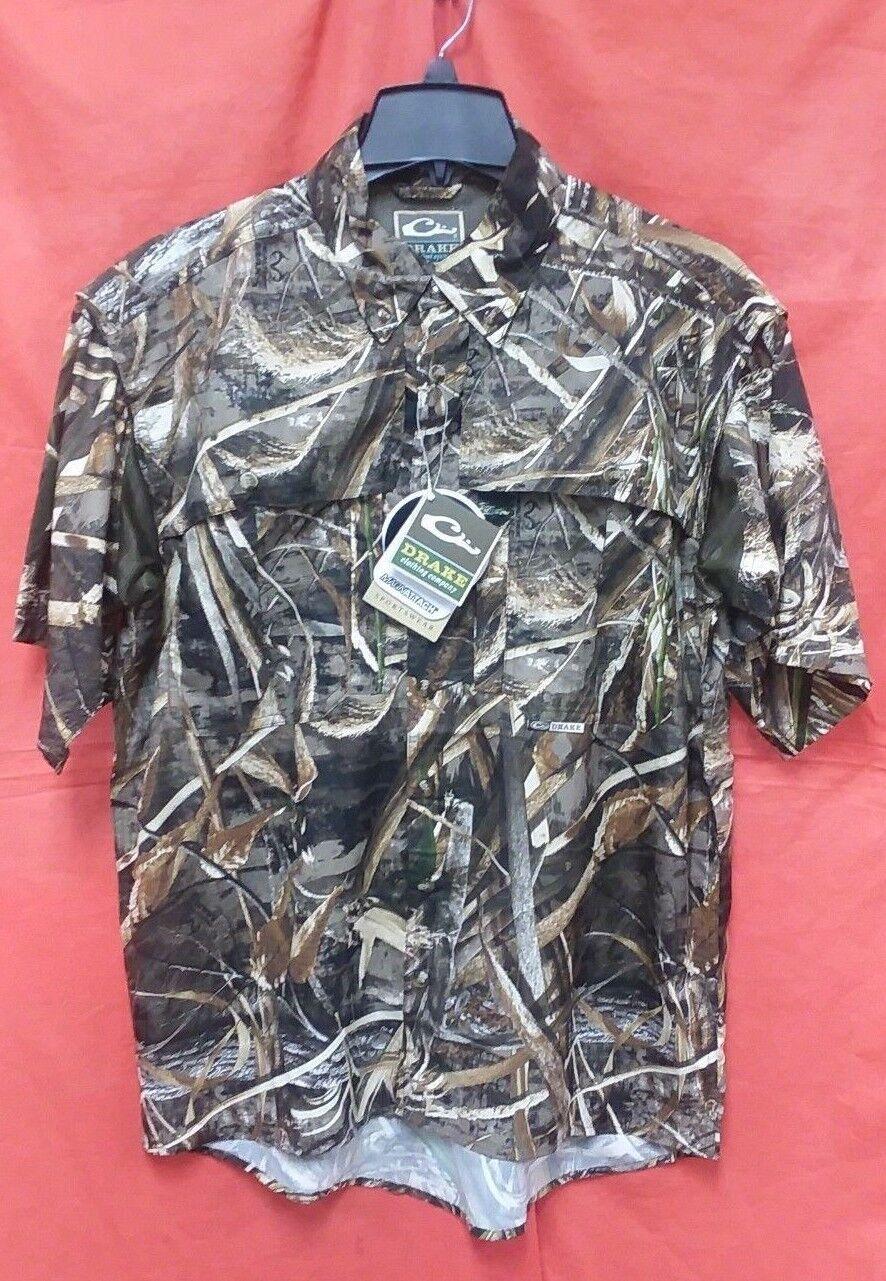DRAKE EST Camo Flyweight Wingshooter's S S Shirt  Men's (M)  DW7006-015-2 RTMax5  deals sale