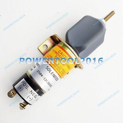 Stop Solenoid 1504-12C2U1B1S1 12V For Kubota DF-750 Choke Solenoid 2 Terminals