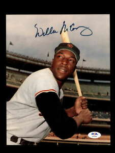 Willie McCovey PSA DNA Coa Hand Signed 8x10 Photo Autograph