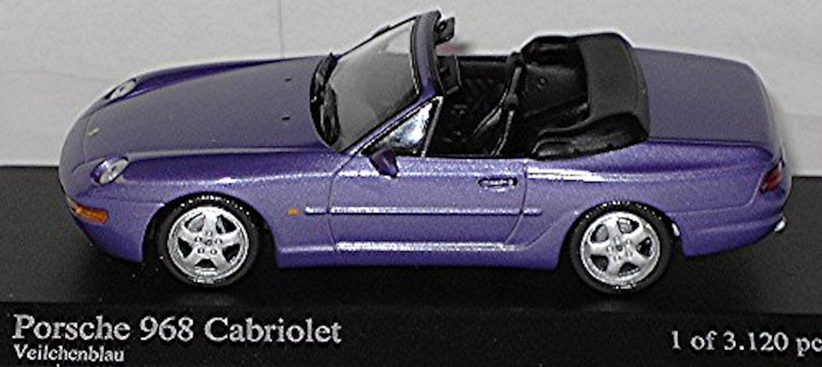 Porsche 968 Converdeible 1991-95 púrpuraa Púrpura Púrpura Púrpura Metálico 1 43 Minichamps 710dcb