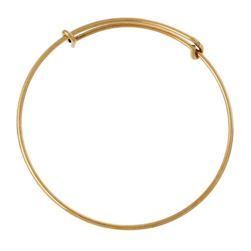 Armband Armreif goldfarben rund  20 cm von Bacatus 1x B60386
