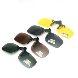 Clip-on-Polarized-Day-Night-Vision-Flip-up-Lens-Driving-Glasses-Sunglasses