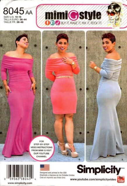 Simplicity Sewing Pattern 8045 Mimi G Style Misses Knit Dress 10-18 ...