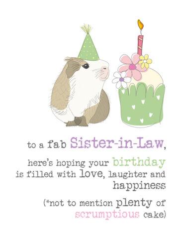 Belle-soeur anniversaire Sparkle fini Carte de vœux par Dandelion Papeterie