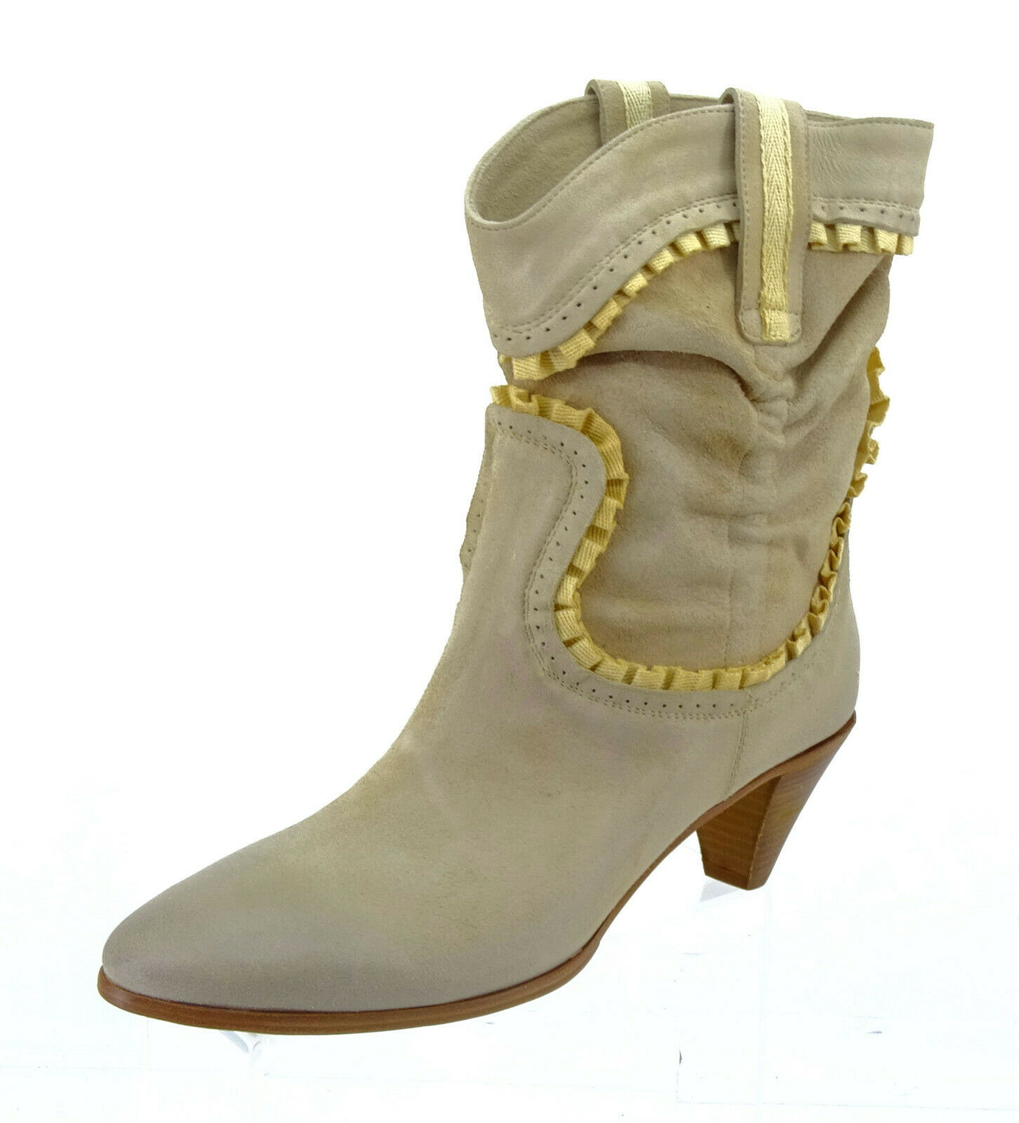 Buttero Schuhe Damen Stiefel Stiefeletten Beige Echtleder Gr. 40