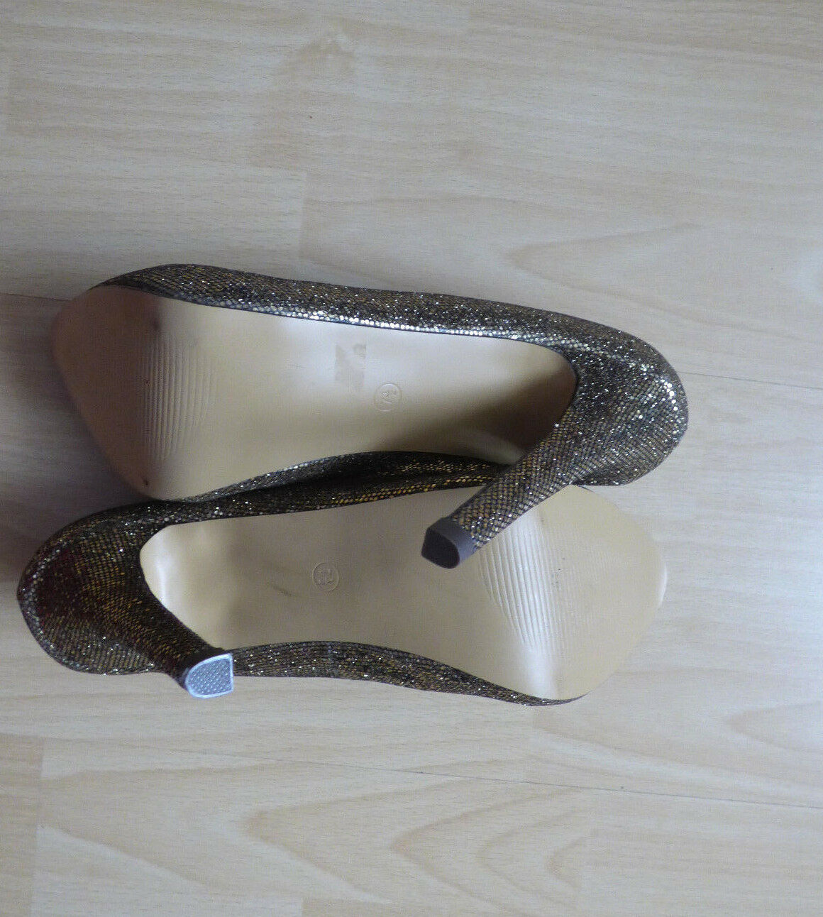 JUST FABULOUS High-Heels,Pumps,Gold, Party Gr.38 Gr.38 Gr.38 11cm.Absatz w.NEU 981fff