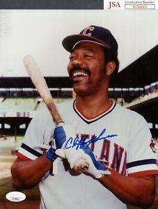 JSA Cliff Johnson Autographed Signed AUTO 8x10 Photo Cleveland Indians TRB 454