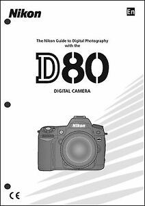 nikon d80 user manual guide instruction operator manual ebay rh ebay com nikon d80 manual settings nikon d80 manual settings