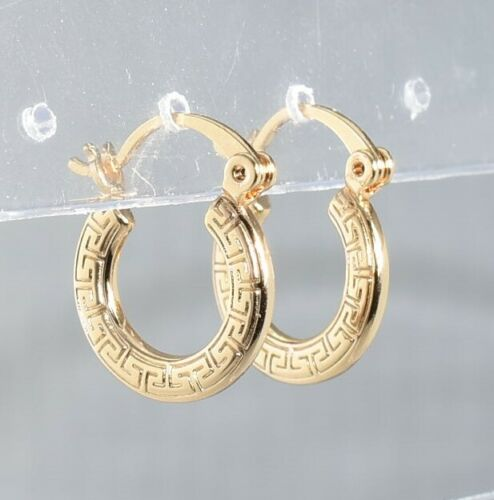 9K Gold Filled Ladies Girl Kid small Hoop Earring Party Birthday Xmas GIFT pouch