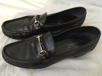 Bally Men's Black Leather Loafers Size 9.5