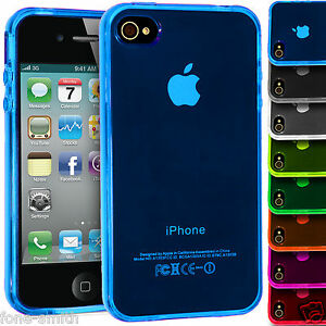 ... Flexible Rubber Gel Grip TPU Case Cover For Apple iPhone 4/4s   eBay