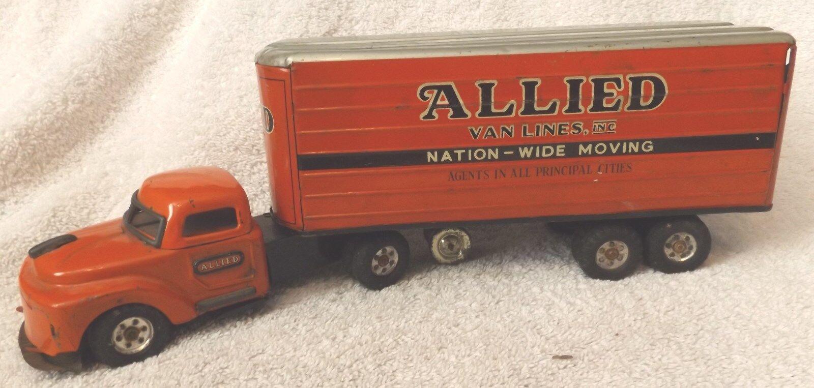 Vintage Allied Van Lines tracteur remorque Moving Van  années 1950 RARE  par Linemar