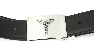 Logisch Caduceus Staff Buckle And Belt Set Black Leather Ideal Caduceus Gift 53
