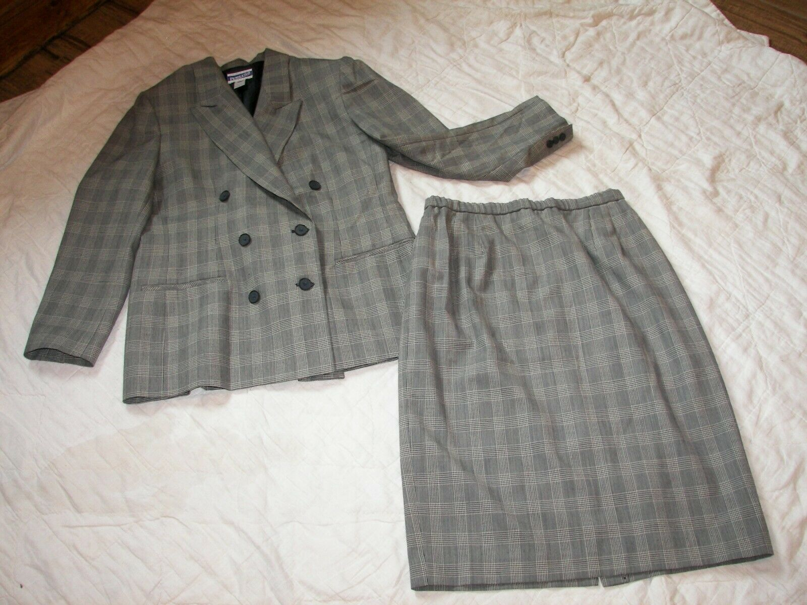 Vtg. Pendleton Classic Skirt Suit - Size 14 - 100% 100% 100% Virgin Wool - Double Breasted 178975
