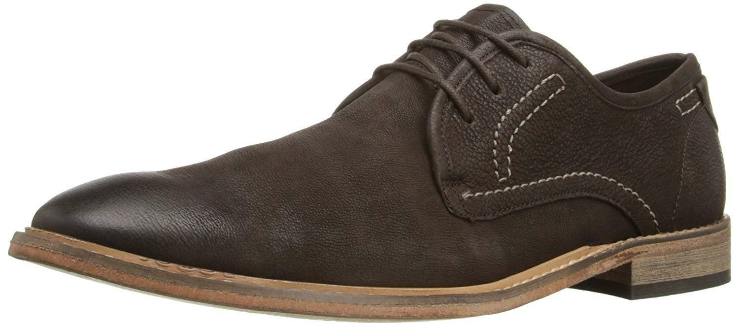 Kenneth Cole Reaction Mens Expresso Tan Leather Lace Up OxfordsSz 11.5 MNew