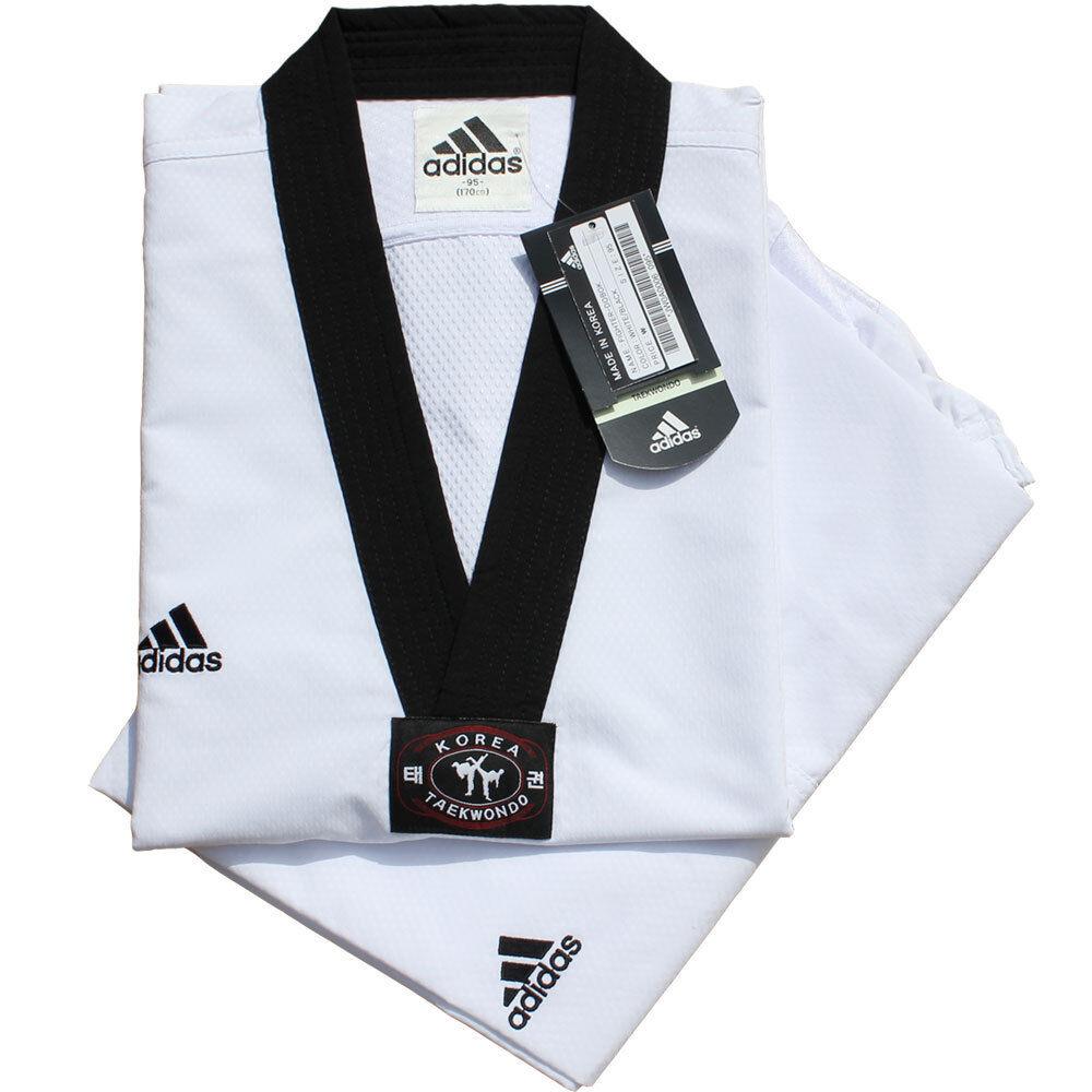Adidas Fighter TaeKwonDo Uniform Taekwondo Gis  TaeKwonDo Dobok US Size2(160cm)  discount promotions