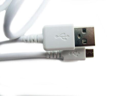90cm cargador de datos USB//Cable De Alimentación Blanco Plomo Para Cámara Kodak PixPro AZ422