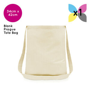 4c328a1434f9a4 1 Blank Prague Sling Tote Bag 100% Plain Natural Cotton for Transfer ...