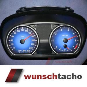 """Tachoscheibe für Tacho BMW 1er E81 E82 E87 E88 """"Blue-Nova"""" 310 Km/h"""