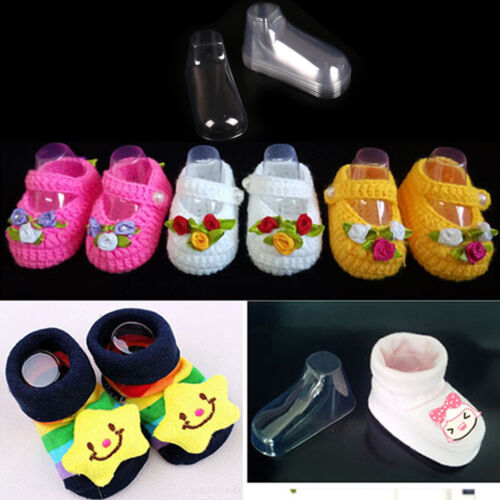 10Pcs Plastic Foot Model Sock Molds Baby Booties Shoes Sock Display Tool NL
